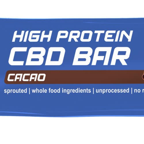 Cacao CBD Protein Bar Blue Sprouted Organic