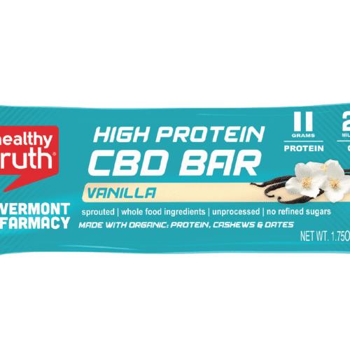 Vanilla High Protein CBD Bar Turquoise Package Single